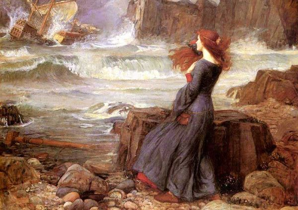 Miranda (La tempestad, de William Shakespear) por John William Waterhouse