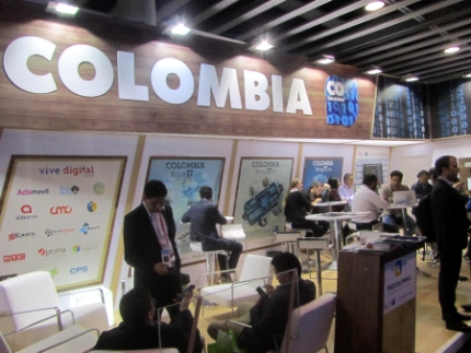 Stand de Colombia en el Mobile World Congress 2015