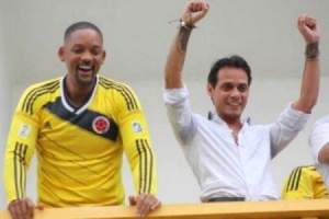 Will Smith y Marc Anthony en Colombia