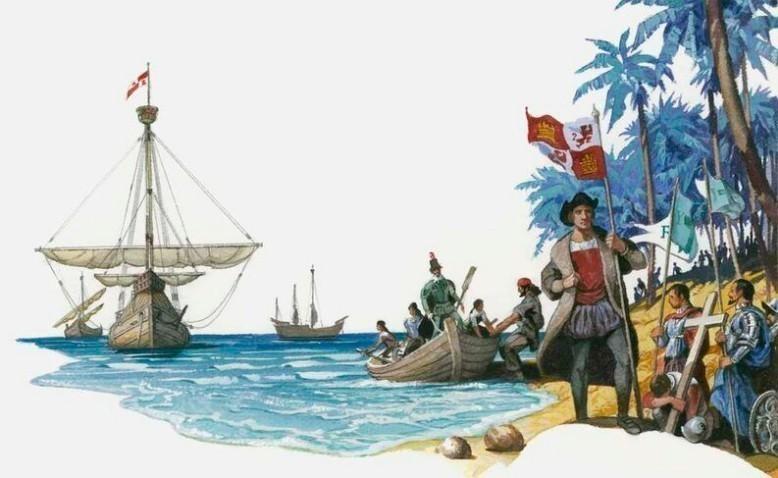 Los cuatro viajes de Cristóbal Colon a América ...
